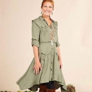 Matilda Jane Olive Green dress size XS